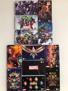 Limited edition Marvel Avengers Ezlink cards for sale. #EndgameYourExcess