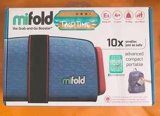 📣 🆕 mifold the Grab and Go Booster (Denim Bule) 英國全球最輕巧兒童汽車安全座椅