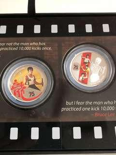 Limited edition Bruce Lee 2-in-1 Silver proof coin set for sale . #EndgameYourExcess