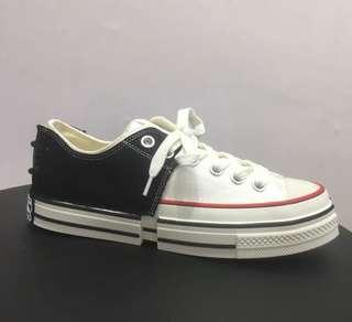 CONVERSE ALL STAR STYLE JAPAN CUSTOM SNEAKERS CANVAS SHOES BLACK/WHITE