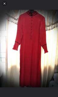 Gamis Merah untuk ke pesta Size M