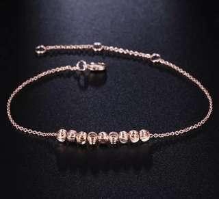 18k Rose Gold Ripple Bracelet