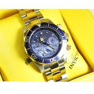 Invicta Watch - Men's Pro Diver Two Tone Stainless Steel Blue Pearl Dial