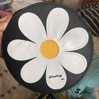 花朵肩背小包