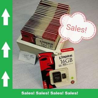🚚 Kingston Micro SD Card 16GB CLASS 10 Free SD Adapter (Original!) #ENDGAMEyourEXCESS