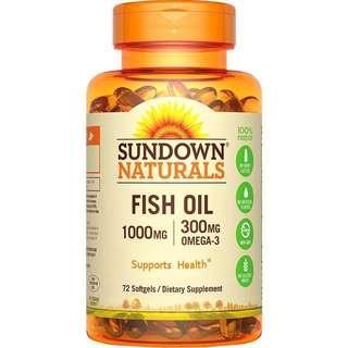Sundown日落恩賜 高單位精純魚油 72顆 2瓶/組
