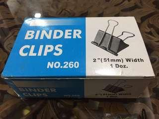 Binder clips! Biggest size! I box 12 pieces! New!