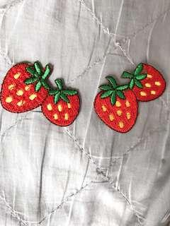 Strawberry Embroidery Iron On Patch