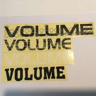 VOLUME Bikes stickers