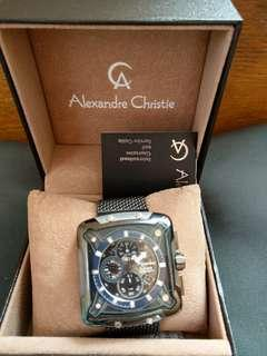 Alexandre Christie方面鋼帶自動錶