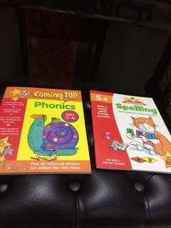 Children Phonics + Spelling workbooks