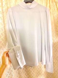 瑞典品牌高端雪紡巴洛克袖飾襯衫