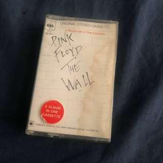 Pink floyd the wall cassette kaset