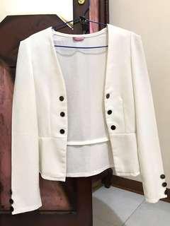 Cream white blazer