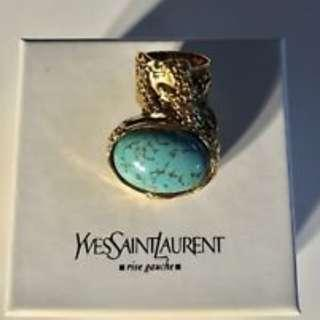 Authentic YSL Arty Ring in Turquoise