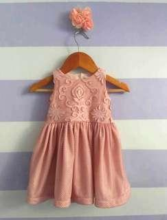 Peppermint Vintag Lace Dress (blush color)