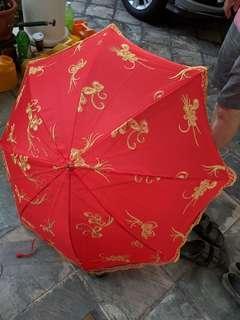 Wedding red umbrella chinese traditional guo da li