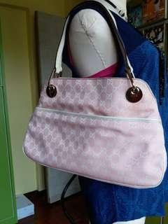 GUCCI monogram eclipse Tote pink bag 11148(AUTHENTIC)