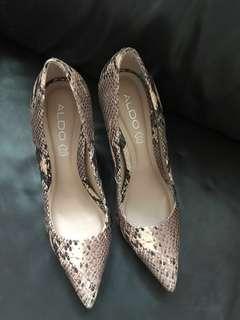 High heels aldo , heels , sneak skin motif