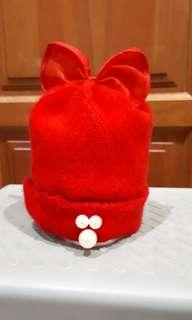 Topi rajut merah new born