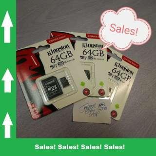 🚚 Kingston Micro SD Card 64GB CLASS 10 Free SD Adapter (Original!) #ENDGAMEyourEXCESS