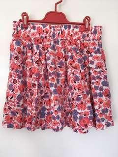 Sportsgirl Floral Mini Skirt