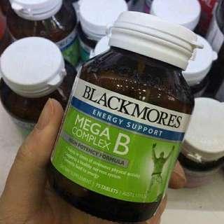 [現貨]澳洲Blackmores Mega B 高能複合維生素B族75粒