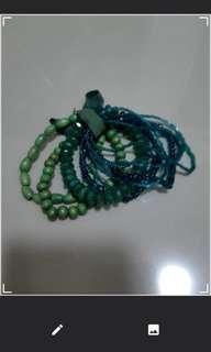 Multiple green beaded bracelet #SnapEndGame