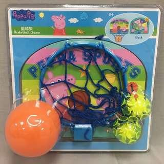 佩佩豬二合一籃球遊戲組