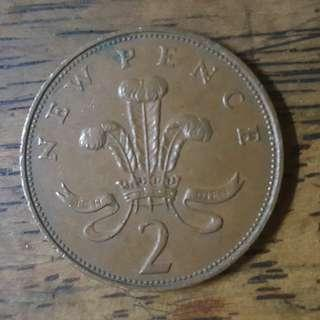 RARE 2p NEW PENCE 1971 First Version Release.