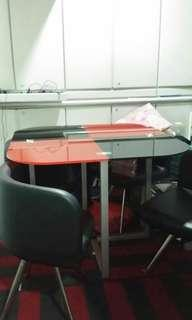 Tabble,  chairs, office chairs,carpet for sale.