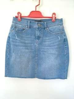 Sportsgirl Indigo Denim Mini Skirt