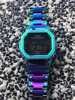 Restocked but very limited units - CUSTOM Rainbow / Iredescent / dazzle FULL METAL Dw5600 CASIO G-Shock , gshock , g-shock , metal gshock , metal dw5600 , dw-5600 , Casio , CASIO , casio