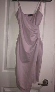 PrettyLittleThing Lilac Wrap Around Dress
