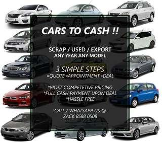 Scrap Used Cars Wanted !!