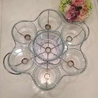 Fooda  warmer with glass dish (16pcs)
