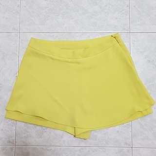 Korean Yellow Highwaist Skorts