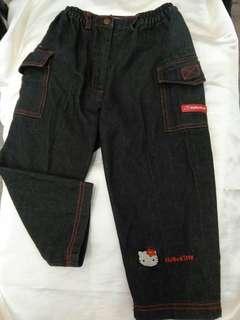 🚚 Hello Kitty女童100cm公分牛仔長褲