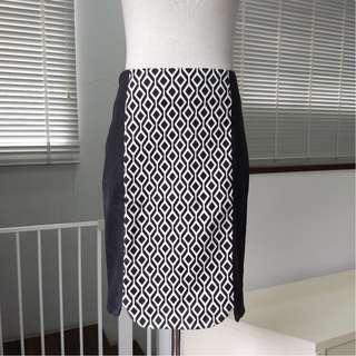 Geometry Patterned Spandex Skirt