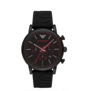 afd1a7365eb8 Emporio Armani Men s Luigi Stainless Steel Analog-Quartz Watch with  Silicone Strap AR11024