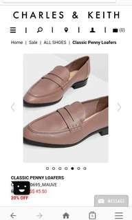 Classic penny loafers (Charles and Keith)