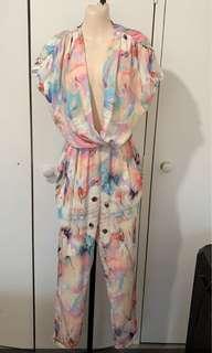 Colourful jumpsuit size 8