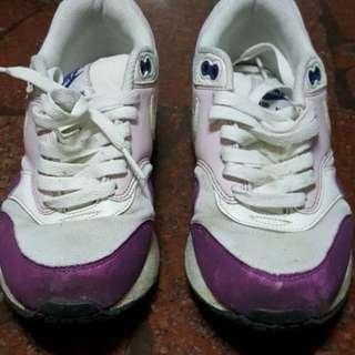 降🎉500含運🎉正版白+紫NIKE AIR MAX ONE增高鞋24.0cm
