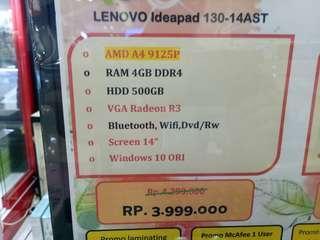 Dijual Laptop Lenovo 130 A4 Bisa Cicilan Tanpa Kartu Kredit