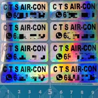 Holographic Silver Large Stickers Advertising #EndGameYourExcess