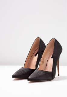 Lost Ink Tayla Cut Stiletto High Heels Black