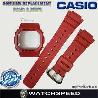 🚚 Original Replacement Band and Bezel for CASIO G SHOCK DW-5600P-4