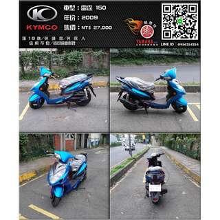 【輪騎穩】2009 光陽 雷霆 KYMCO Racing 150 平光 藍 ( BWS、勁戰、悍將、125、150車系可參考 )