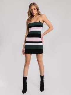 Lulu + Rose Camille Knit Dress in Multi Stripe