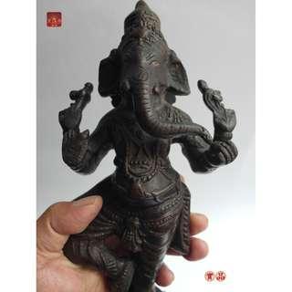 象鼻神老銅件來自遠古年代久遠感召萬靈象鼻財神請購有慧眼請購者有天眼天來一筆本尊3.32公斤